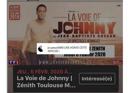 Le producteur historique de Johnny en colère contre l'affiche du spectacle de son sosie vocal